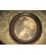 A 'Coppercraft Guild' oval framed print wall de... - $20.25