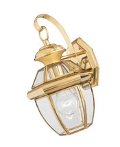 Quoizel Newbury 12-in H Antique Brass Medium Base (E-26) Outdoor Wall Light - $60.67