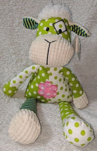 GANZ HE9981 Polyester Fiber 15 Inch Quil Tees Green Lamb For Ages Three And Up