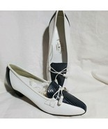 Jacques Loup Italian Loafers Navy White Leather Tassels On Toe Size 10 L... - $173.25