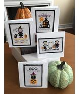 Halloween Greetings cross stitch chart Tiny Modernist  - $8.10