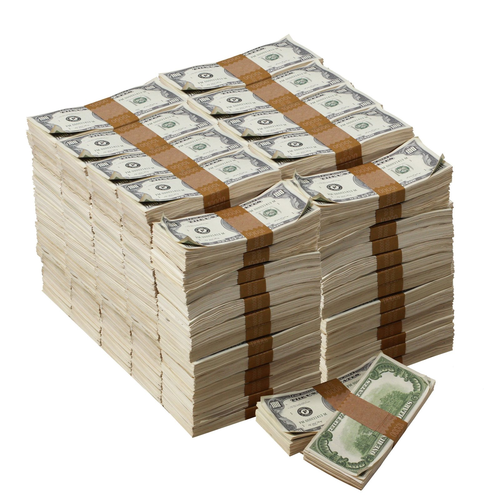 1980s Series $100s Aged $1,000,000 Full Print Package Realistic Prop Money