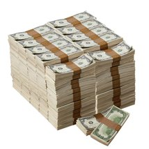 1980s Series $100s Aged $1,000,000 Full Print Package Realistic Prop Money image 1