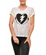 Wildfox Love Roses No9 Algodón WCJ179 71W Camiseta Multi Tamaño XS - $47.88
