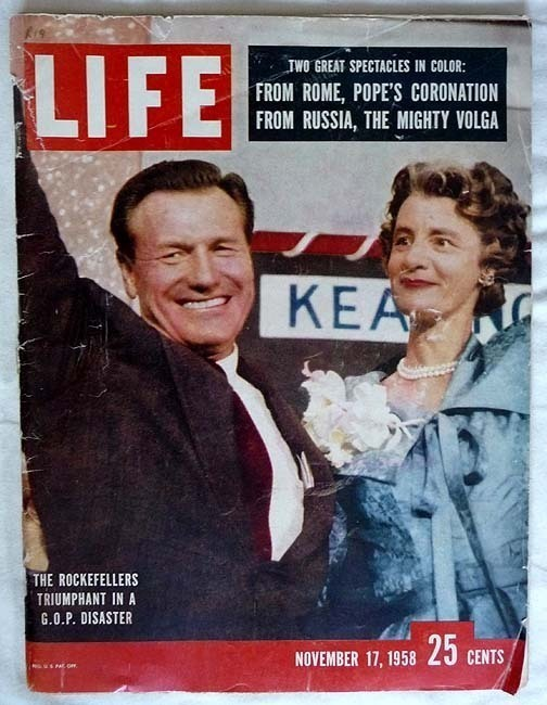 Life Magazine. November 17, 1958 THE ROCKEFELLERS