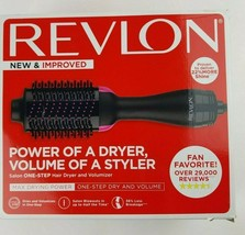 REVLON One-Step Hair Dryer And Volumizer Hot Air Brush, Black - $33.98