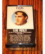 ELVIS PRESLEY A LEGENDARY PERFORMER VOLUME 4 CASSETTE - $38.60