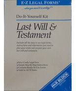 last will and testament do-it-yourself kit EZ Easy LEGAL FORMS instructions - $9.89