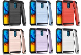 For LG Stylo 5 / Stylo 5 Plus Slim Metallic Hybrid Case Phone Cover  - $13.00