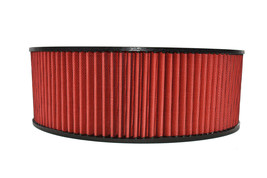 """HIGH FLOW WASHABLE & REUSABLE ROUND AIR FILTER ELEMENT REPLACEMENT 14"""" X 5"""" RED image 2"""