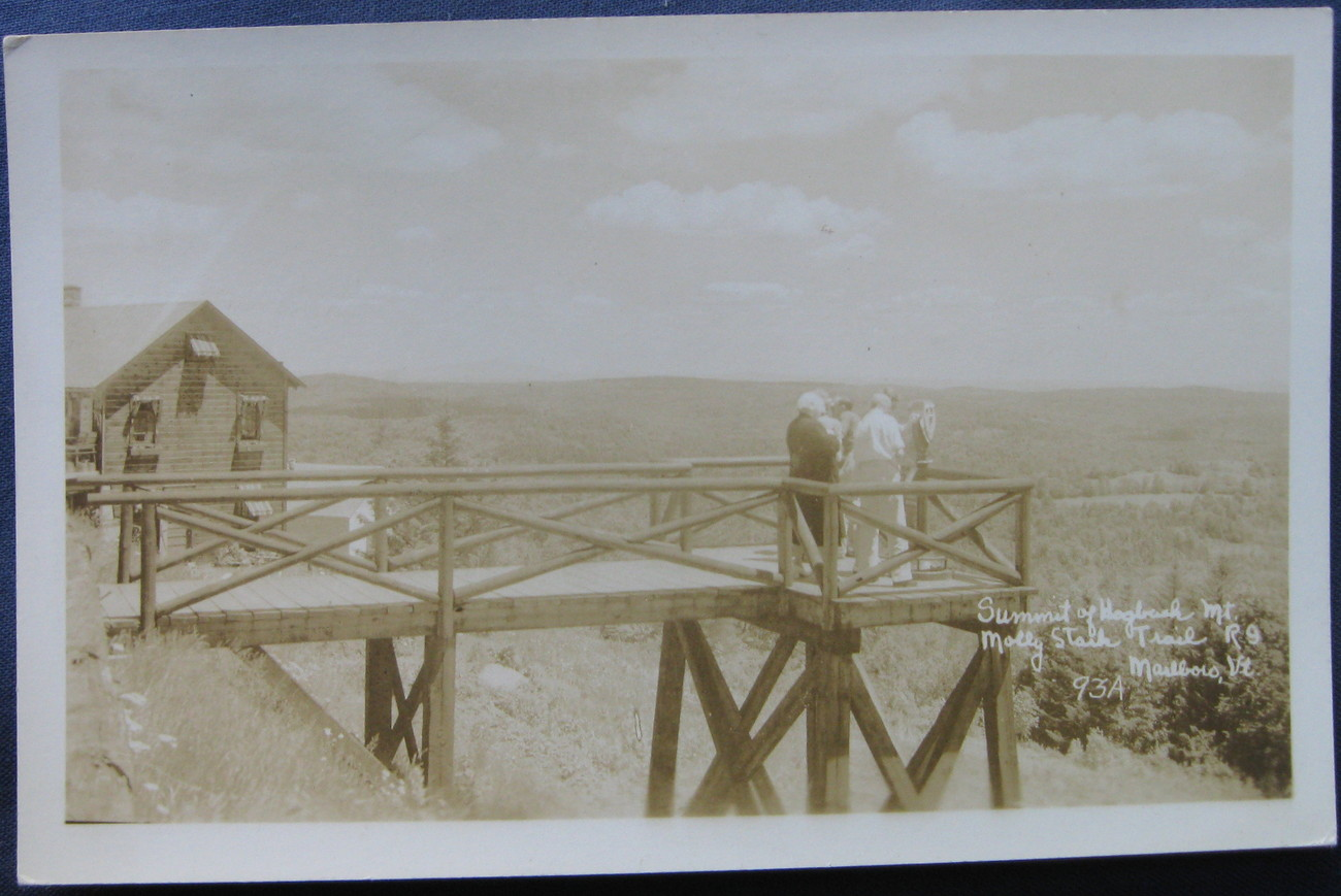 EKC, RPPC, Real Photo Postcard,Summit of Mt Hogbrush, Marlbo
