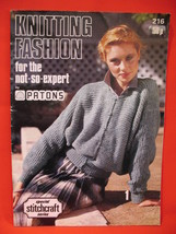 Patons Knitting Fashion Patterns Pattern Book Adults - $6.99