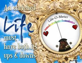 Inspirational, Spiritual, Encouragement Card: Life-O-Meter - $5.00