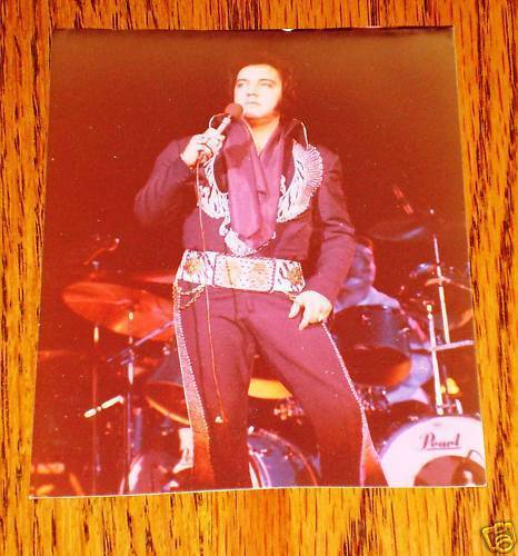 "Elvis Presley Colored Concert Photo 3 1/2"" x 4 1/2"""