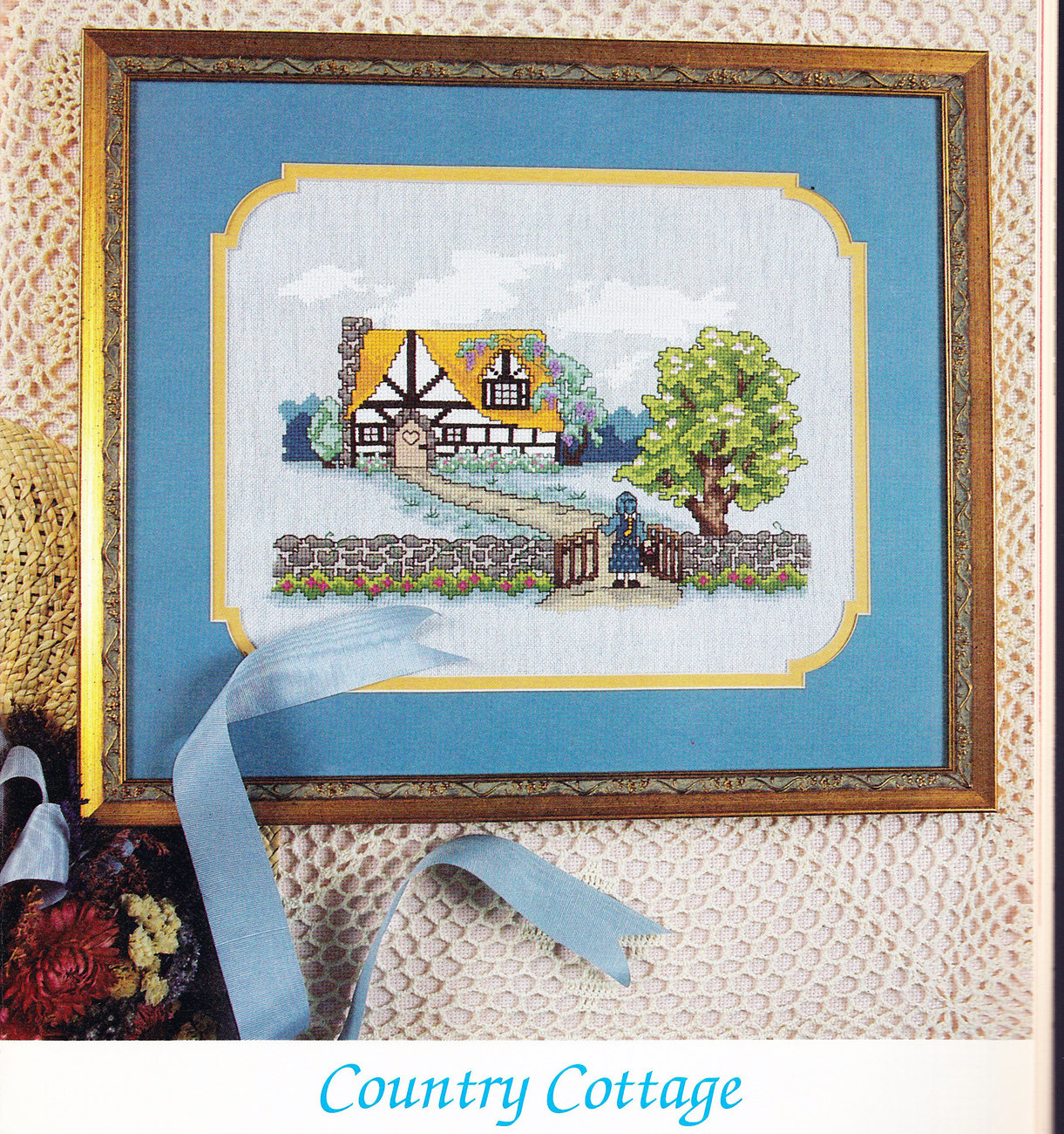 THE CROSS STITCHER VOL. 9, NO.6 YELLOW PERCH PINK FLAMINGOS CLADDAGH RING ROSES
