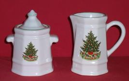 Pfaltzgraff Christmas Tree Heritage Sugar & Creamer - $20.00