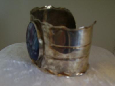 Vintage Artisan Handmade Sterling Silver Cuff Bracelet