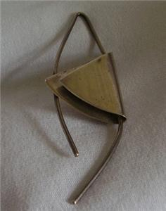 Vintage Taxco Sterling Modernist Pin Brooch TO-34 925