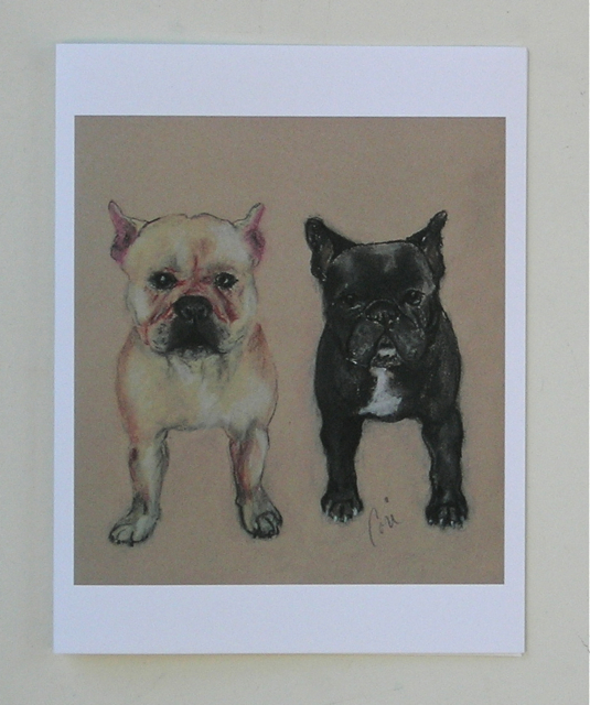 French bulldog art note cards pardon my french by cori solomon