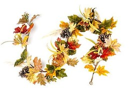 CraftMore Fall Mixed Maple Leaf Garland 6'