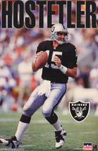 POSTER: NFL FOOTBALL: JEFF HOSTETLER - OAKLAND RAIDERS RW13 G - $26.00