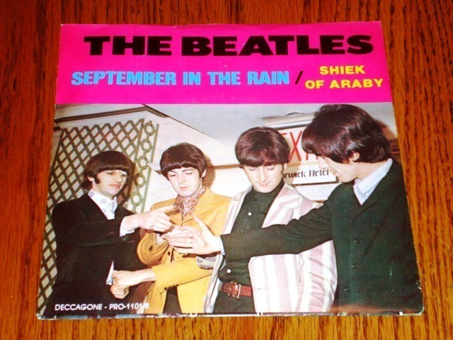 THE BEATLES SEPTEMBER IN THE RAIN PIC SLV & COLORED 45