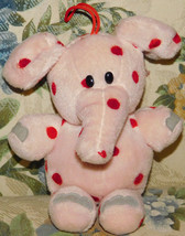 "1998 Stuffins 7"" Rudolph Misfit Toy Pink Spotted Elephant Plush Bean CVS... - $28.04"
