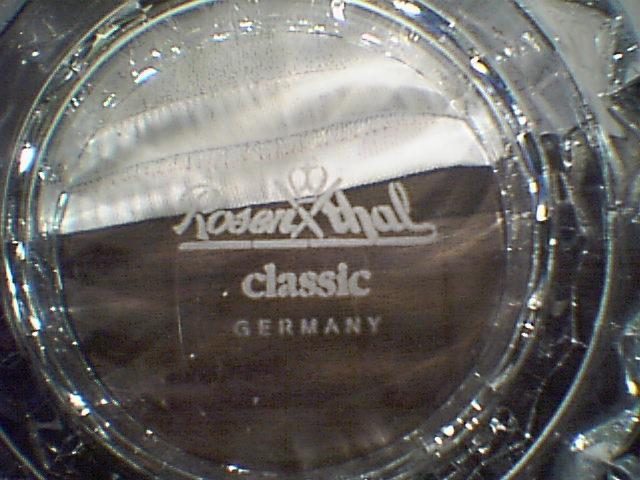 "ROSENTHAL CRYSTAL BOWL / VASE ""BLOSSOM"" NEW IN BOX"