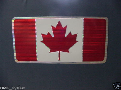Vintage Canadian Flag License Plate Decal
