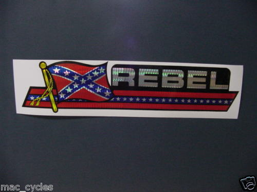Vintage Rebel Flag Automotive Decal