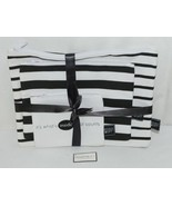 Midwest Gift CBK Three Piece Black White Canvas Zip Up Cosmetic Bag Set - $19.00