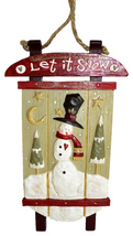 "SnowTown® Snowman Sleigh Sled Christmas Decoration -Kurt S. Adler ""Let i... - $11.95"