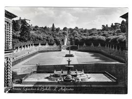 Florence Italy Firenze Boboli Garden Amphitheatre Glossy Photo 1954 Post... - $4.99