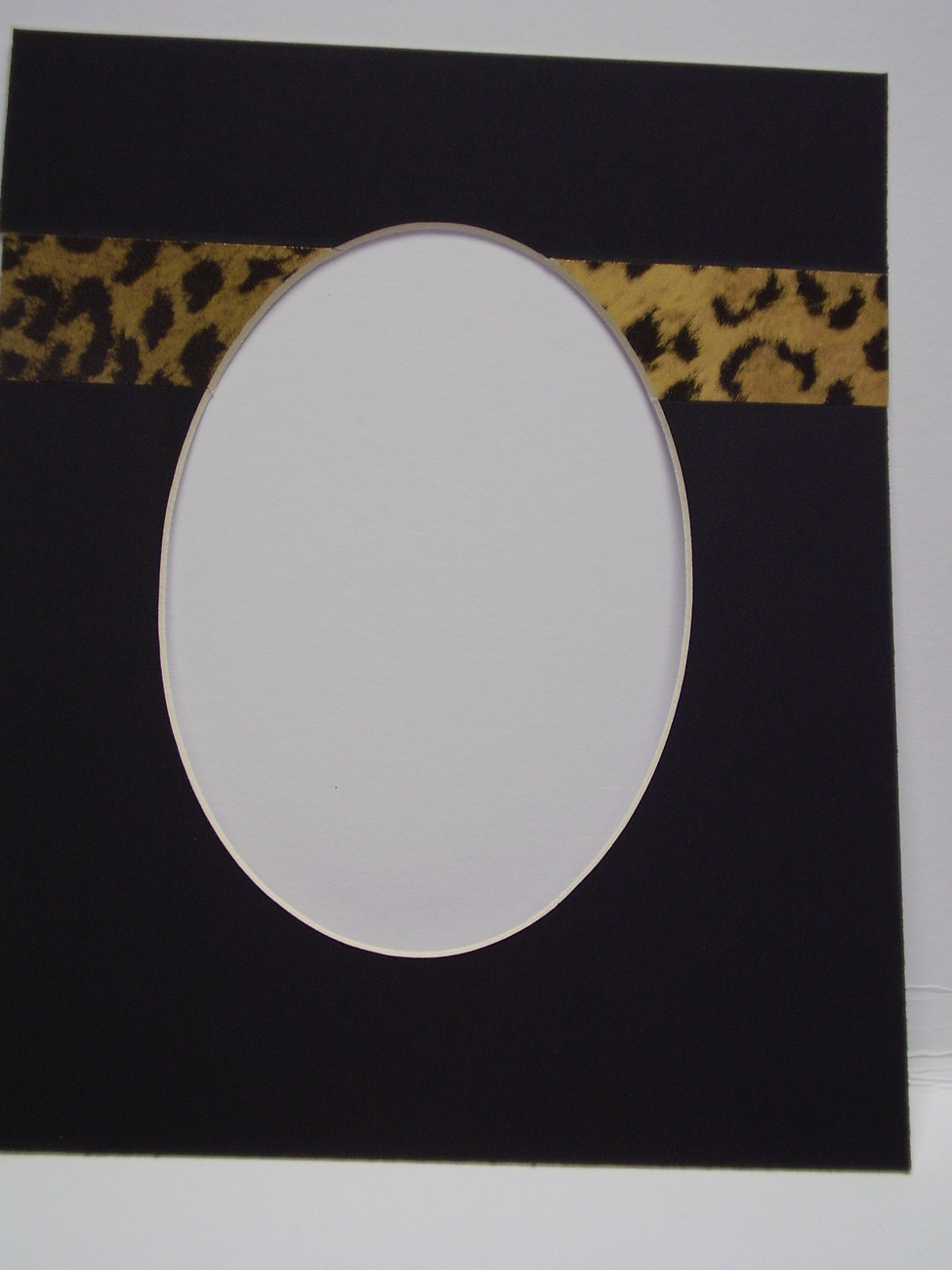 Picture Frame Mat 8x10 for 5x7 photo Speciality Mat with Leopard Stripe