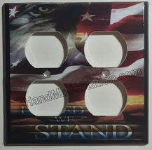USA United we Stand Eagle Flag Light Switch Outlet Wall Cover Plate Home Decor image 4