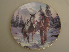 MORNING OF RECKONING Collector plate CHUCK REN The Last Warriors NATIVE ... - $19.99
