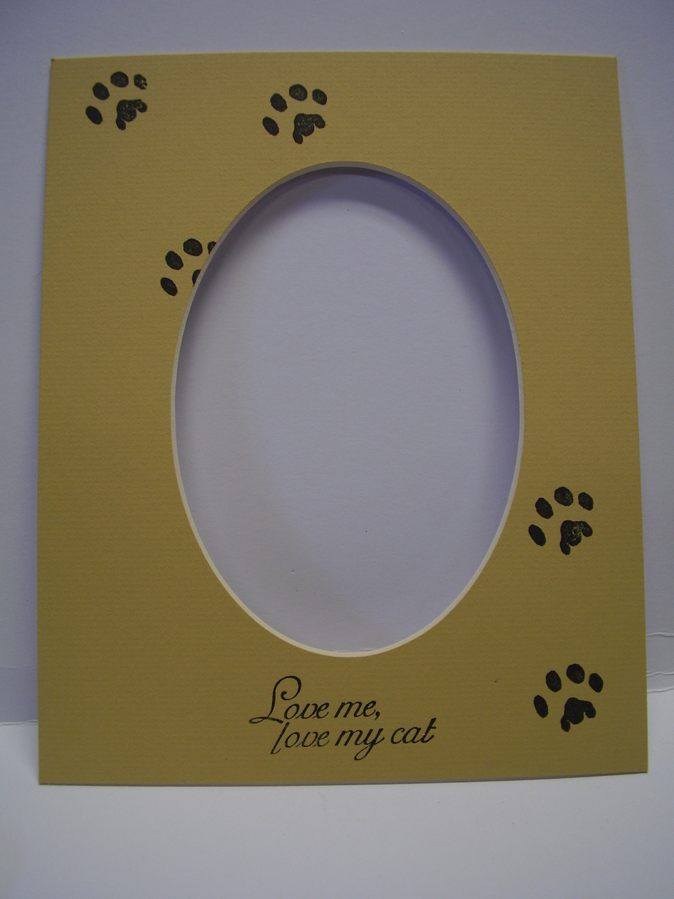 Picture Frame Mats 8x10 for 5x7 Cat Paws Print Love me Love my Cat Mat