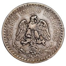 1918/7 Mexico Silber 1 Peso Overstrike VF Zustand image 3