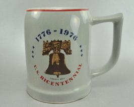 US Bicentennial Liberty Bell Buntingware Grey Coffee Mug Cup - $7.75