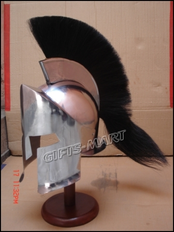 300 King movie Spartan Helmet Medieval larp helmets, Greek Leonidas Armor Helm