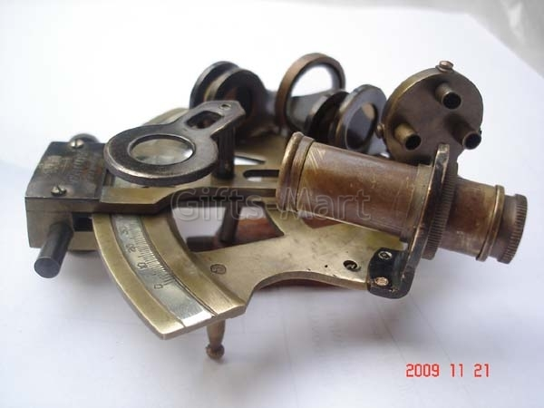 "4"" SEXTANT SOLID German BRASS NAUTICAL MARINE INSTRUMENT, *Marine Maritime Gift*"