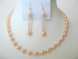 Swarovski Pearch Pearls & Crystals Affordable Jewelry Necklace Set - $39.38