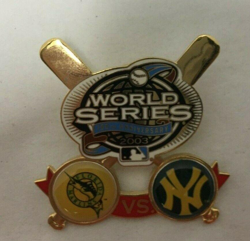 MLB World Series 100th Anniversary Pin 2003 Florida Marlins vs New York Yankees