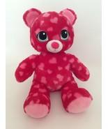 "BUILD A BEAR pink SWEET HUGS HEART TEDDY BEAR W/ BIG EYES 16"" Valentine'... - $18.69"