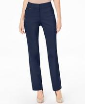 JM Collection Womens Curvy Fit 5 Pocket Blue Slim Leg Zip Hook Pants Size 12 $49 - $14.84