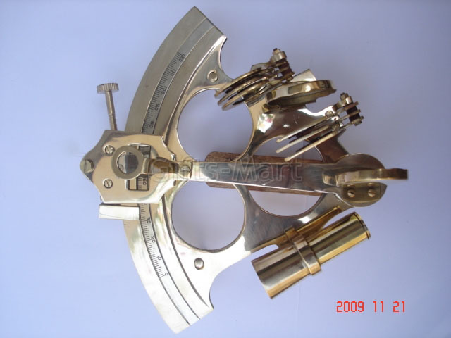 "6"" SEXTANT SOLID BRASS NAUTICAL Survey MARINE INSTRUMENT, Marine Maritime Gift*"