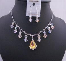 AB Baroque Pendant Swarovski AB Crystals AB Bicone Formal Jewelry Set - $51.08