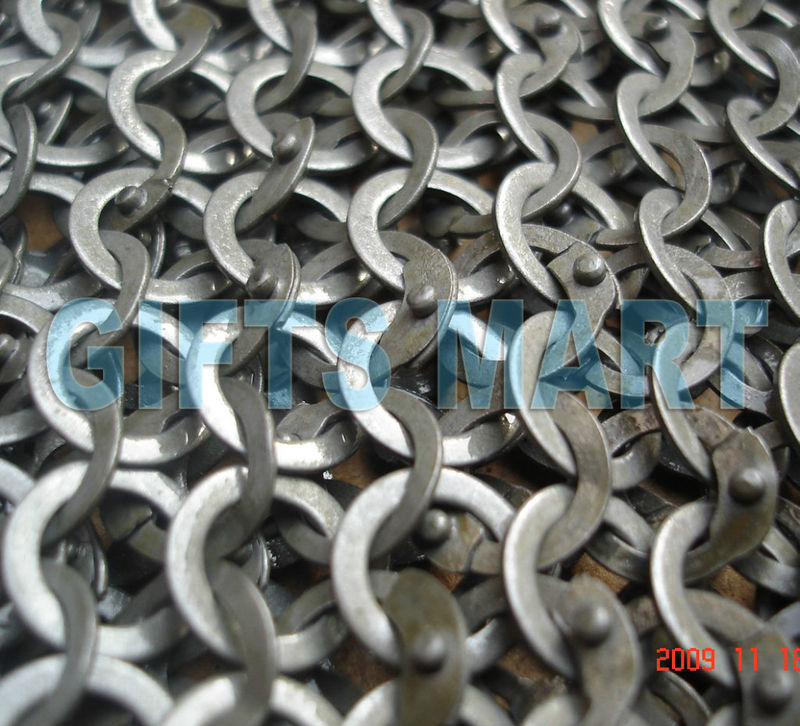 8mm Chain Mail Chainmail Shirt Flat Riveted Washers, Top Qaulity SCA Larp Armour