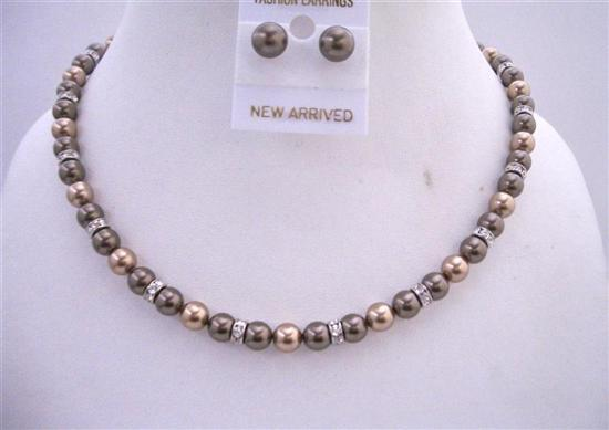 Primary image for Bronze Pearls Brown Dark Chocolate Pearls Bridesmaid Handmade Jewelry