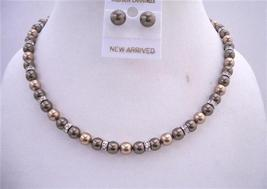 Bronze Pearls Brown Dark Chocolate Pearls Bridesmaid Handmade Jewelry - $48.50